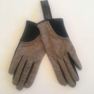 Zara combination fabric gloves